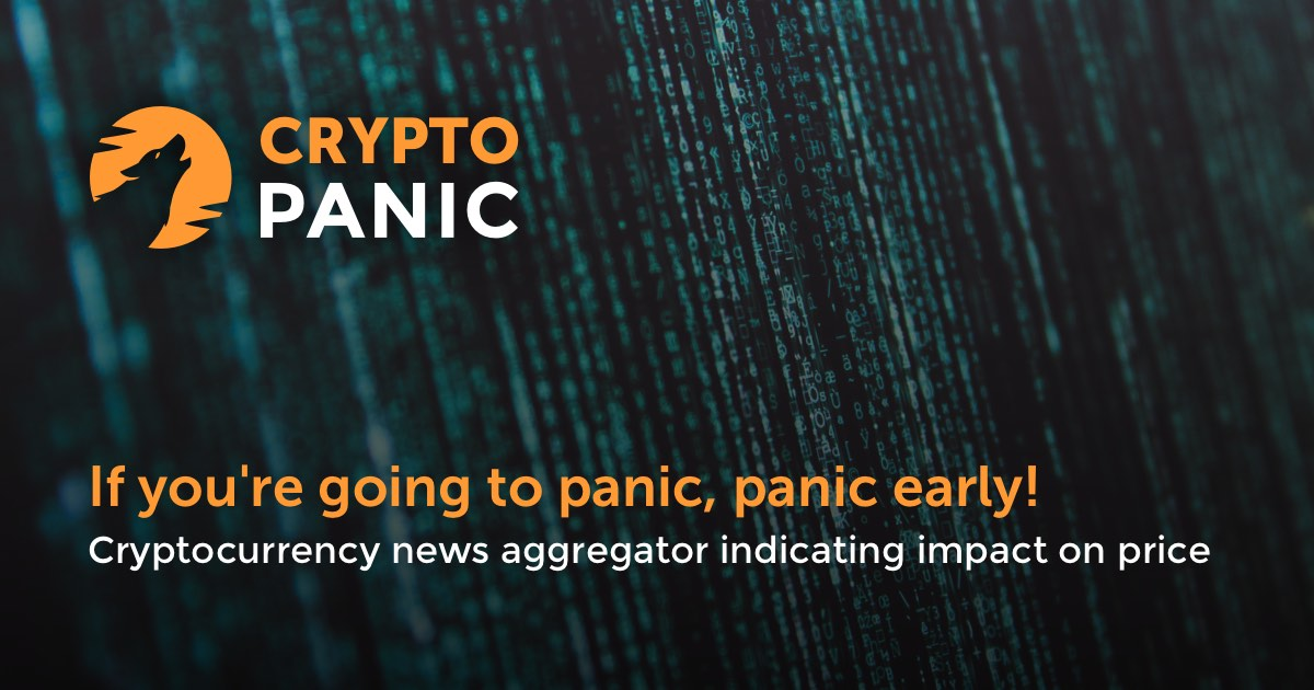 CryptoPanic - News aggregator platform indicating impact on price